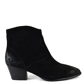 Ash Footwear Heidi Bis Black Brushed Ankle Boots