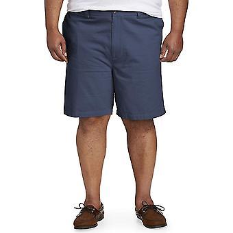 Essentials Men's Big & Tall Flat-Front Short, Navy, 42