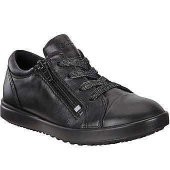 Ecco Girls Kids Elli Leather Casual School Walking Trainers Sneakers Shoes Black