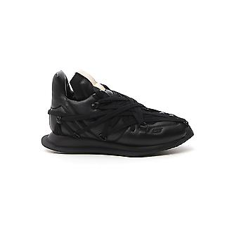 Rick Owens Rp20s1801lnww109 Women's Black Leather Sneakers