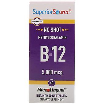 Superior Source, Methylcobalamin B-12, 5,000 mcg, 60 Tablets