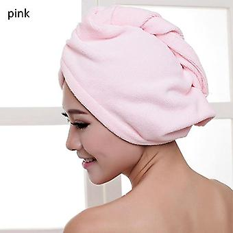 Quick Dry Hair Microfiber Fabric Towel - Shower Cap Lady Absorbent Turban Bath Towel