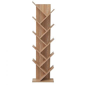 Rebecca Møbler Reol reol 10 Hylder Wood Brown Design 160x44,5x22