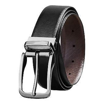 Savile Row Men's Top Grain Leather Reversible Belt Fashion Design Size 36