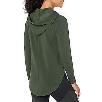 Brand - Core 10 Women's Cloud Soft Yoga Fleece Hoodie Sweatshirt, Oliv...