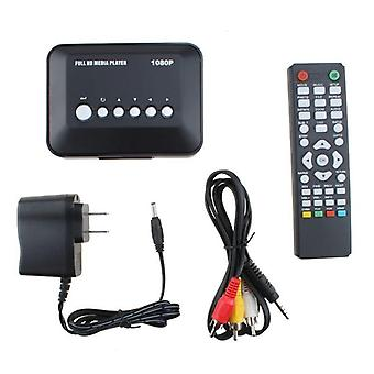 1080p Hd Multimedia Player, Multi Tv Usb Hdmi With Remote Controller