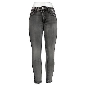 Laurie Felt Women's Jeans Silky Denim Colored Zip Fly Skinny Gray A374325
