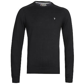 Farah Stern Crew Long Sleeve Black Sweatshirt