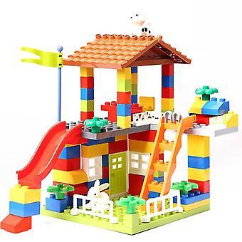 Bâtiment de glissière de grande taille, blocs de toit de particules- Maison de ville duploed compatible