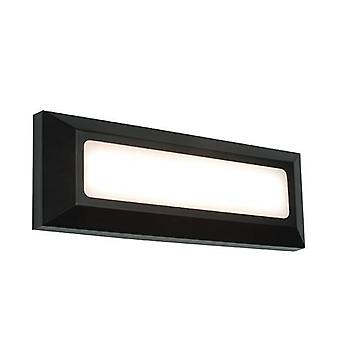 Geïntegreerde LED 1 Licht Outdoor Wall Light Black Abs Plastic, Frosted IP65