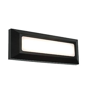 Integrerad LED 1 Ljus Utomhusvägg ljus svart Abs plast, Frostat IP65