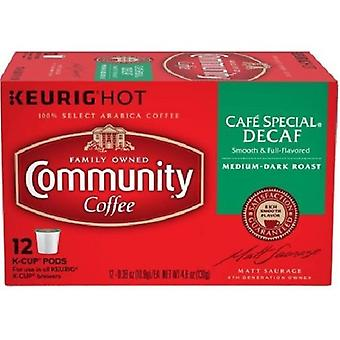 Community Coffee Cafe Special Decaf Coffee Keurig K Cup
