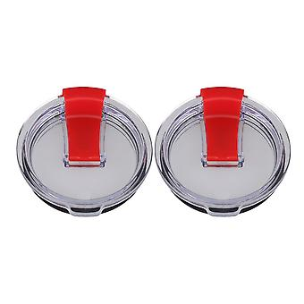 Red 20oz Vacuum Tumbler Travel Cup Spill Proof Lids Pack of 2