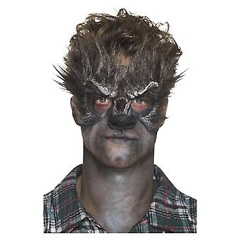 Foam Latex Werewolf Head Prosthetic, Brown, with Adhesive