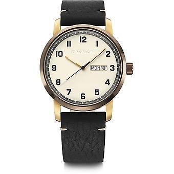Wenger - Wristwatch - Men - Attitude - 01.1541.124 - cream (beige), 42 mm