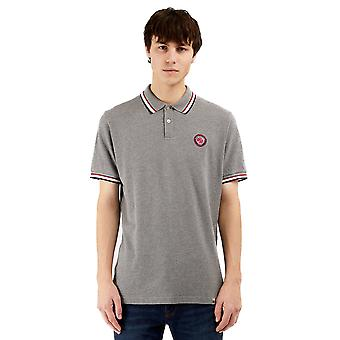 Pretty Green Mens Likeminded Chest Badge Polo Shirt - Grey