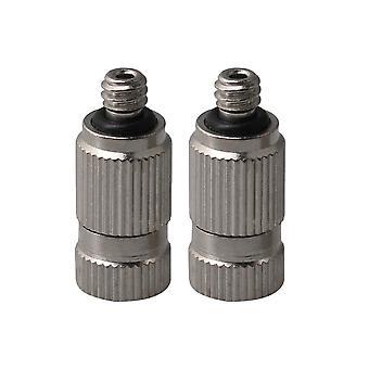 2st rostfritt stål Imma munstycke 0,15 Hål Dia 3/16 Tråd Silver