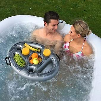 Piscine spa Hot Tub Drink Tray Pool Gonflable Floating Food Shelf