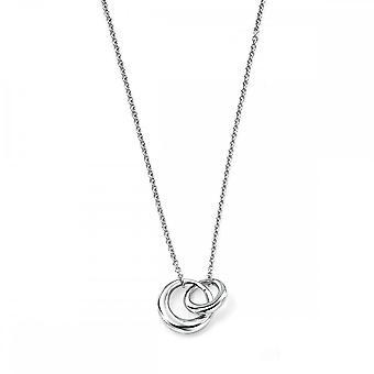بدايات الجنيه الاسترليني الفضة متشابكة وصلات 41 +5cm القلائد N2832