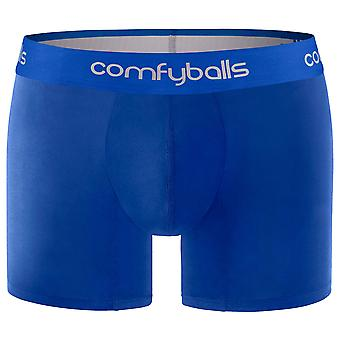 Comfyballs Cotton Long Boxers - All Blue