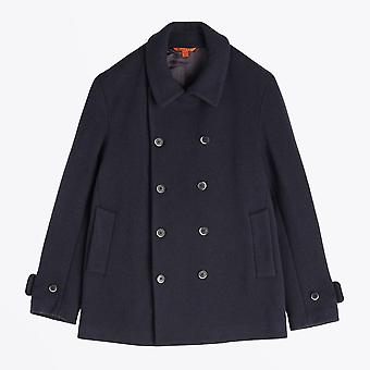Barena  - Double-Breasted Pea Coat - Navy