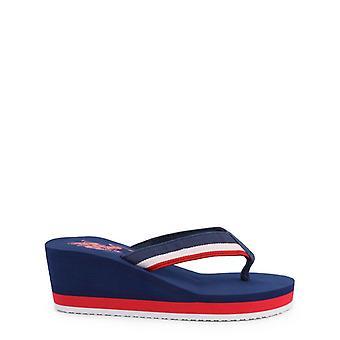 Us polo assn. 4093s0 women's wedge flip flops