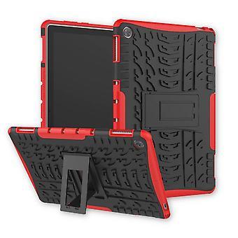 Para Huawei MediaPad M5 Lite híbrido de 10,1 polegadas capa protetora exterior do saco vermelho caso capa case