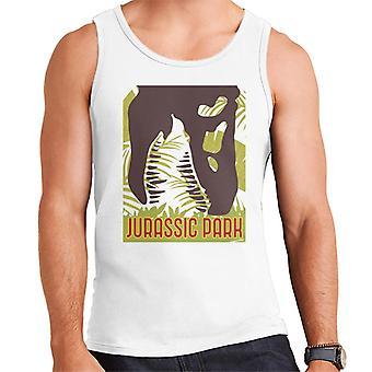 Jurassic Park T Rex Skeleton Silhouette Eating Men's Vest