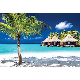 Bungalows auf einer tropischen Insel