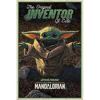 The Mandalorian Poster Yoda De originele uitvinder van schattige tv-serie 91,5 x 61 cm