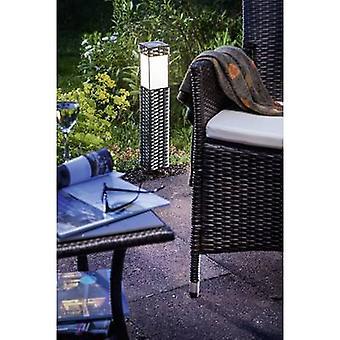Esotec 102073 Rattan Solar garden light Warm white Silver-grey