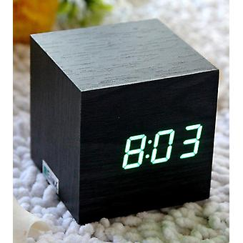 Cube Mini Led Holz Digitale Wecker