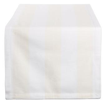 Dii Natural/Blanco Dobby Stripe Table Runner