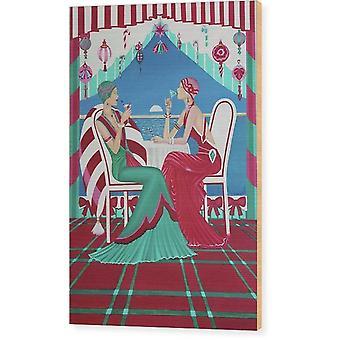 Boże Narodzenie Cruisin Wood Print Ornament
