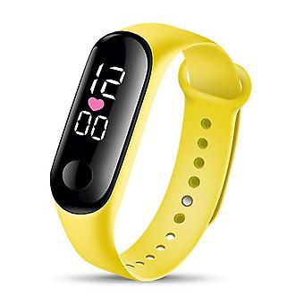 Muoti rannekoru kello, & urheilu elektroninen rannekello led digitaalinen kello