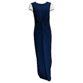 بروك شيلدز فستان الخالدة بلا أكمام ماكسي W / تويست الأزرق A349675