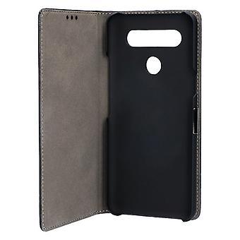 Folio Mobile Phone Case LG K51S KSIX Standing Black