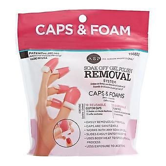 ASP Soak Off Nail Caps & Foams - Pack de recharge