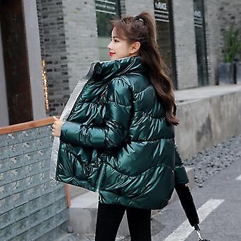 Téli kabát, stand-callor kabát, női kabátok, meleg ruházat alkalmi parkas
