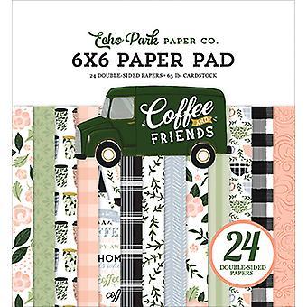 エコーパークコーヒー&フレンズ 6x6 インチ ペーパーパッド