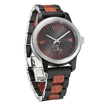 Men's Gravure artisanale Ebony & Rose Wood Watch