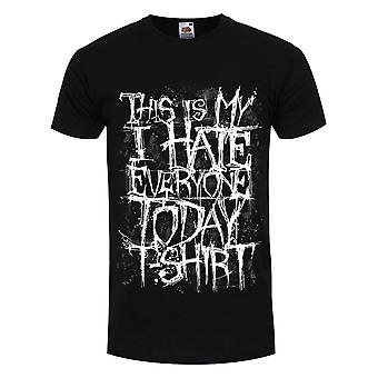 Grindstore Mens This Is My I Hate Everyone Today T-paita