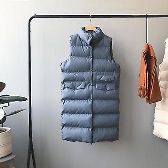 Women Spring Vest Coat Stand Collar Warm Tops Vest