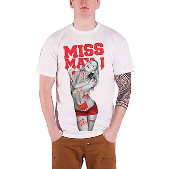 Miss May I T Shirt  Bloody Hot Gore Girl band logo Official Mens White