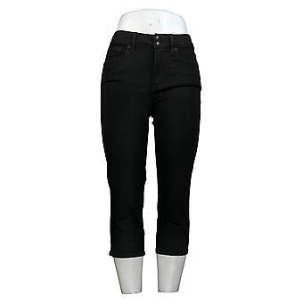 NYDJ Women's Petite Jeans Cool Embrace Skinny Crop w/Side Slits Black A377694
