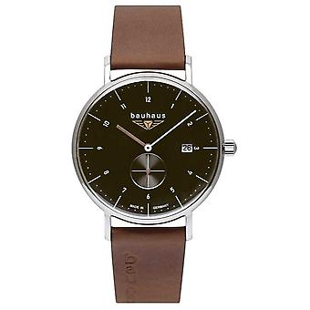 Bauhaus Men's Brown Italian Leather Strap | Black Dial 2132-2 Watch