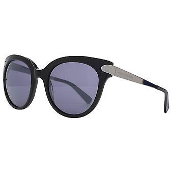 Französisch Verbindung Premium übergroße Sonnenbrille - glänzend schwarz