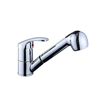 Single Handle Pull Out Sprayer Zinc/brass Home Kitchen Faucet