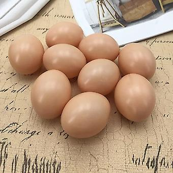 Chicken House Small Fake Eggs Farm Animal Supplies Accesorios jaulas (10 piezas