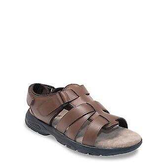 Chums Mens Leather Sandal Wide Fit